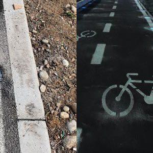 Punti luminosi - Ciclopedonale a Monza (MB)